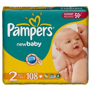 Pampers ActiveBaby 2 (3-6КГ) 108 шт
